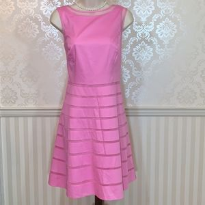 Ann Taylor Pink Sleeveless Fit & Flare Dress